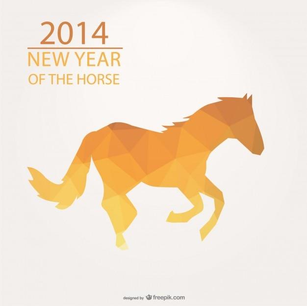 Dreieck-design für das jahr 2014 jahr des pferdes