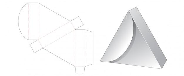 Dreieck geschenkbox gestanzte vorlage