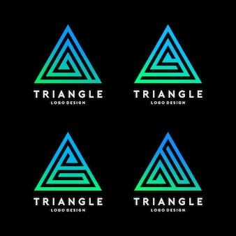 Dreieck logo vorlage vektor festgelegt