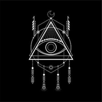 Dreieck magisches auge