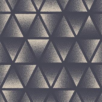 Dreieck punktiert nahtlose muster geometrischen vektor abstrakten hintergrund handgezeichnete kachelbare ästhetisch gepunktete textur