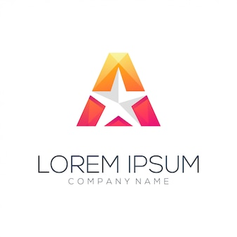Dreieck stern logo vorlage