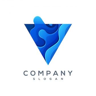 Dreieck wave logo vektor einsatzbereit