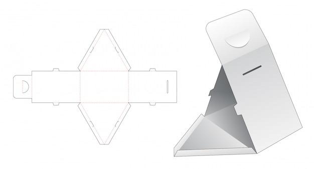 Dreieckige box gestanzte vorlage