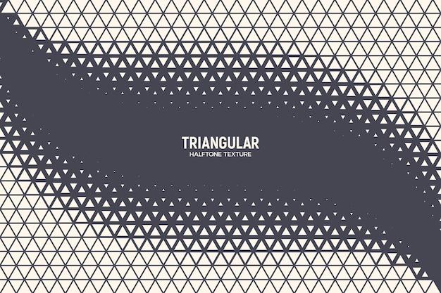 Dreieckige partikel halbton geometrische textur oszillationswelle abstrakter hintergrund