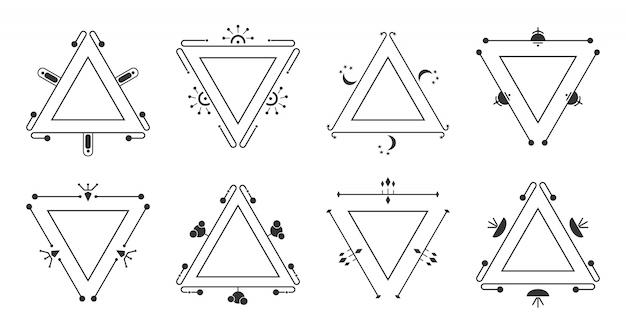 Dreieckige rahmen isoliert auf weiß