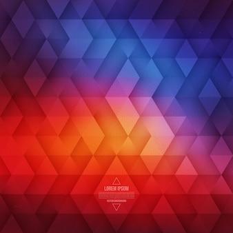 Dreieckiger abstrakter geometrischer hintergrund des vektors