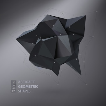 Dreieckiger kristall der abstrakten geometrischen form
