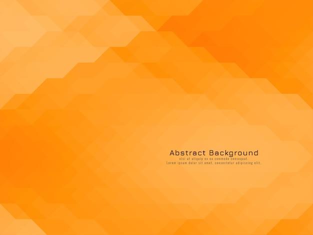 Dreieckiger mosaikmuster geometrischer gelb-orangefarbener hintergrund