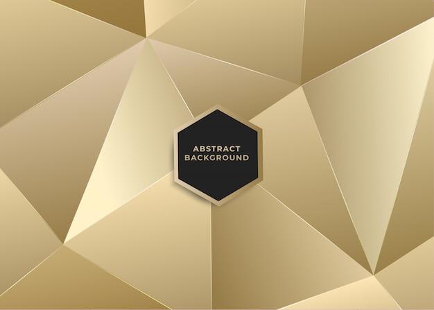 Dreieckiger polygonaler abstrakter hintergrund