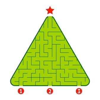 Dreieckiges labyrinth-arbeitsblatt für kinder