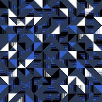 Dreieckiges nahtloses muster dunkelblaues schwarzweiss
