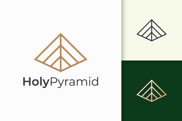 Dreieckiges pyramidenlogo in einfacher und moderner form passend für tech-unternehmen