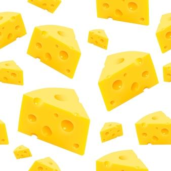 Dreieckiges stück käsebeschaffenheit nahtlos. vektorillustrationskunst
