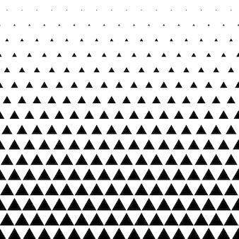 Dreieckmuster vektor hintergrund in schwarz und weiß