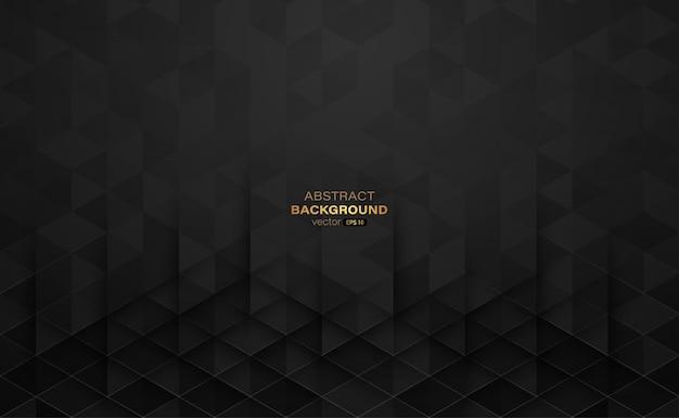 Dreiecksform mit schwarzem farbverlauf und linien abstrakten hintergrund