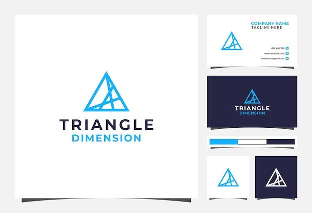 Dreieckslogo und visitenkarte