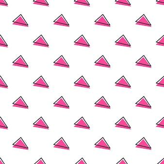 Dreiecksmuster, abstrakter geometrischer hintergrund im retro-stil der 80er, 90er jahre. bunte geometrische illustration