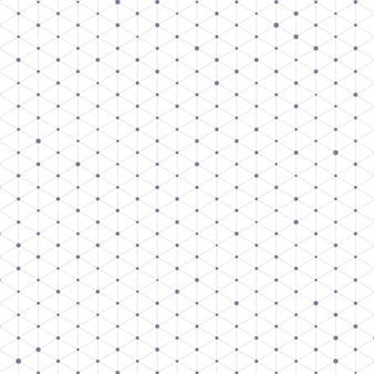 Dreiecksmuster mit verbindungslinien und punkten
