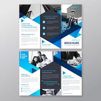 Dreifach abstraktes broschürenkonzept