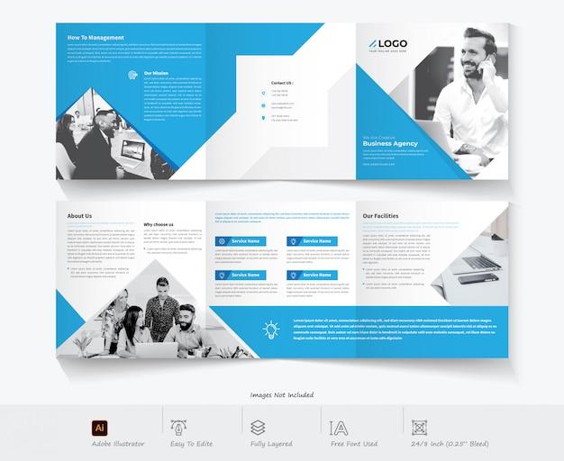 Dreifach gefaltete broschüre design. großunternehmen