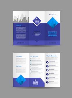 Dreifach gefaltete broschüre design