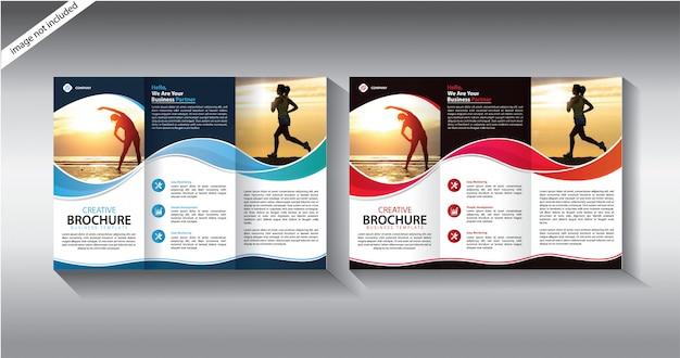 Dreifach gefaltete broschüre vorlage für layout-broschüre