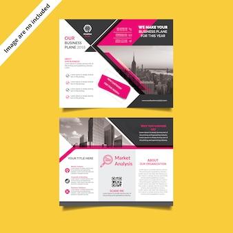 Dreifach gefaltete broschüre vorlage