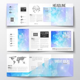 Dreifach gefaltete broschüren