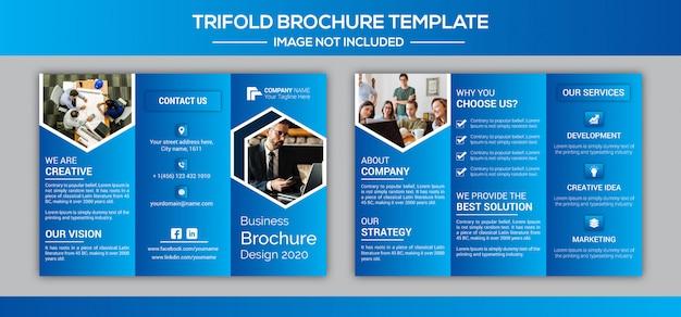Dreifach gefaltete broschürenentwurfsvorlage des unternehmensgeschäfts