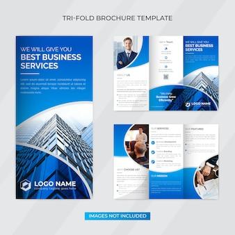 Dreifach gefaltete broschürenvorlage für kreatives unternehmensgeschäft