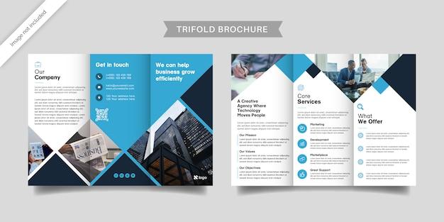 Dreifach gefaltete broschürenvorlage für unternehmen