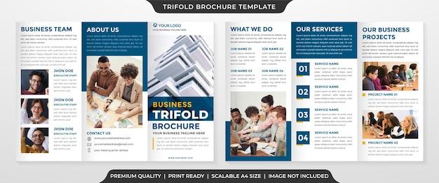 Dreifach gefaltete broschürenvorlage im premium-stil