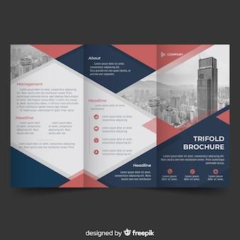 Dreifach gefaltete fotografische broschüre