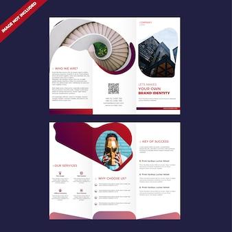 Dreifach gefaltete unternehmensbroschüre design-vorlage