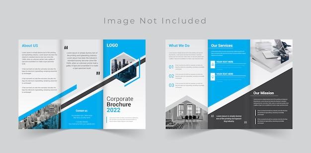 Dreifach gefaltetes broschürendesign