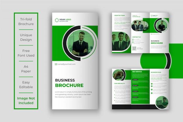 Dreifachbroschüre für kreatives unternehmensgeschäft
