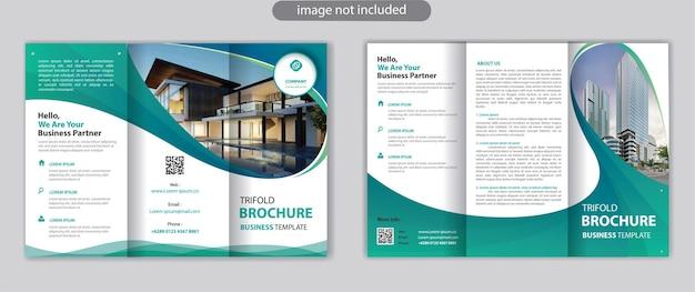 Dreifache broschürenvorlagen-werbung