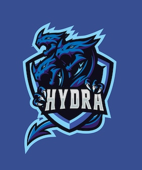 Dreifaches hydra e sport-logo