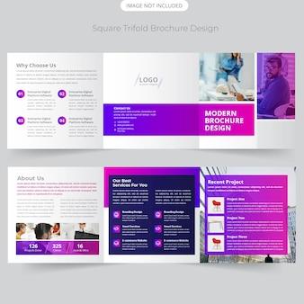 Dreifachgefaltete broschüre design