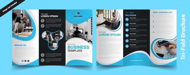 Dreifachgefaltete broschüre