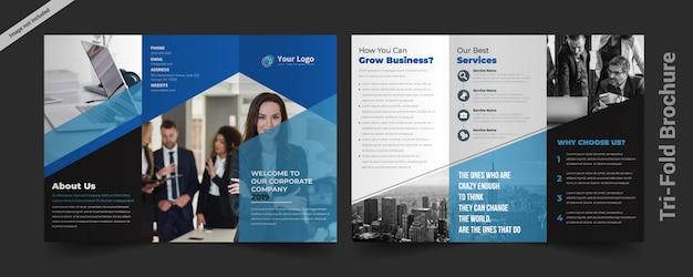 Dreifachgefaltete broschüren vorlage