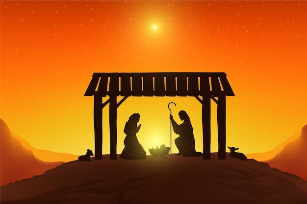 Dreikönigsfiguren im licht der sonne