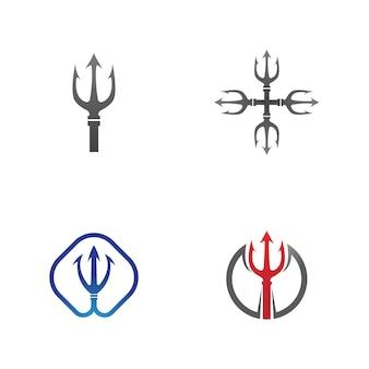 Dreizack logo vorlage vektor icon illustration design