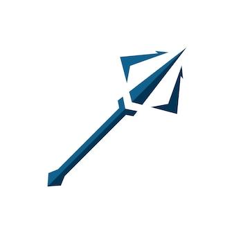 Dreizack-vektor-logo-symbol abbildung zeichen-symbol