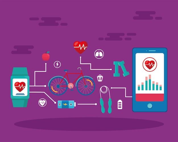 Dreizehn gesundheits-app-symbole