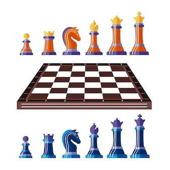 Dreizehn schachfiguren