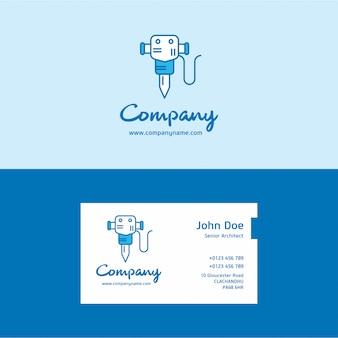 Drill logo und visitenkarte