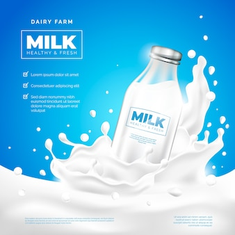 Drink ad milk company