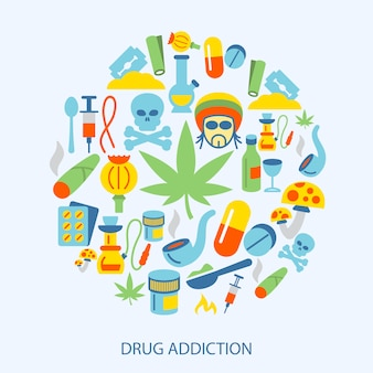 Drogen elemente flach